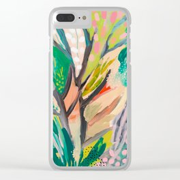 tree and leaf : abstract painting Clear iPhone Case