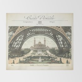 Paris Postcard #2 by Murray Bolesta Throw Blanket