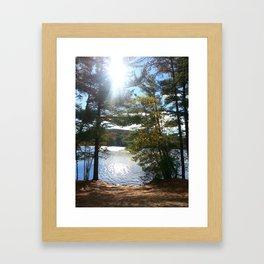 Quiet Lake in Autumn Framed Art Print