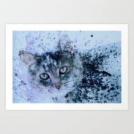 Miss Kitty Unleashed! Art Print