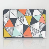 triangles iPad Cases featuring Triangles by Patterns and Textures