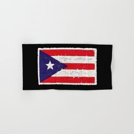 Puerto Rican flag with distressed textures Hand & Bath Towel
