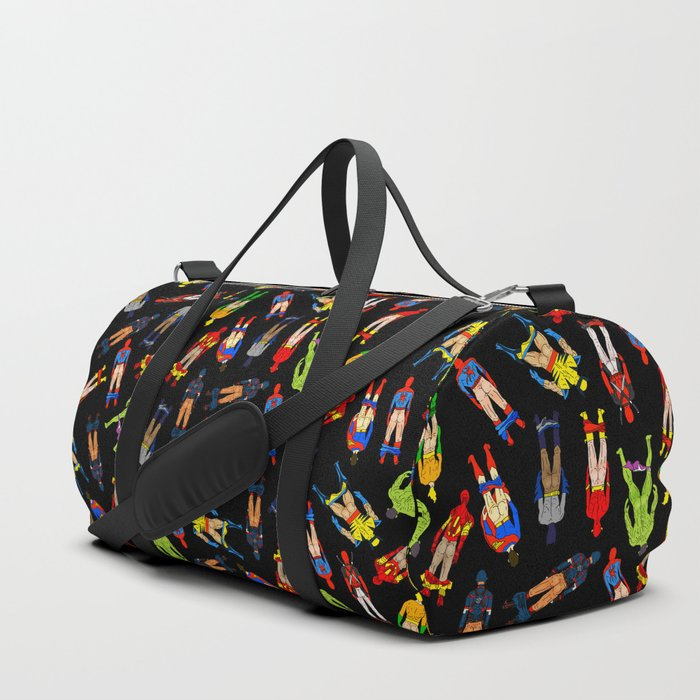 Superhero Butts Pattern (Dark) Duffle Bag