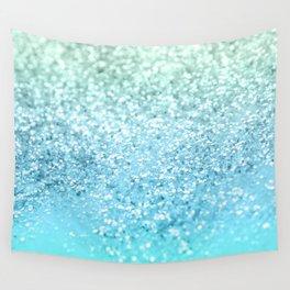 Seafoam Aqua Ocean MERMAID Girls Glitter #1 #shiny #decor #art #society6 Wall Tapestry