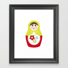 Matryoshka Doll 3 Framed Art Print