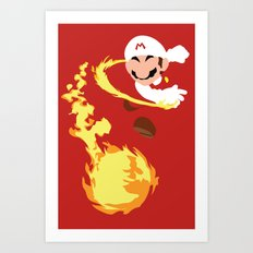 Mario - Fire Flower Mario Art Print
