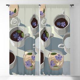 Purple Morning Flowers Blackout Curtain