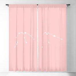 Aquarius Star Sign Soft Pink Blackout Curtain