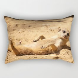 Meerkat Suricat suricatta Sunbathing #decor #society6 Rectangular Pillow