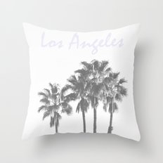 Los Angeles Poster Throw Pillow