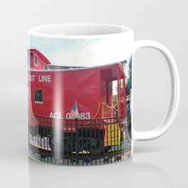 Red Caboose On Display Coffee Mug