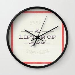 Lifter of My Head - Psalm 3:3 Wall Clock