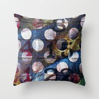 grid Throw Pillows featuring Grid by Stephen Linhart