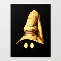 final fantasy Canvas Prints featuring Vivi - Final Fantasy by Vortha
