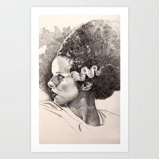 The bride of frankenstein elsa lancaster Art Print