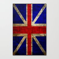 british flag Canvas Prints featuring British Flag by Jason Michael