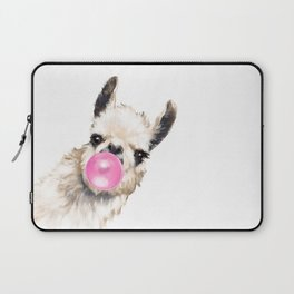Bubble Gum Sneaky Llama Laptop Sleeve