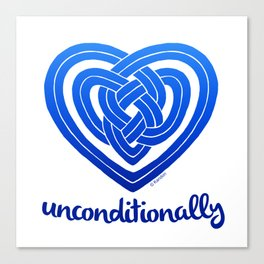 UNCONDITIONALLY in blue Canvas Print