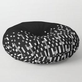 Black and White Matrix Patterned Design Floor Pillow