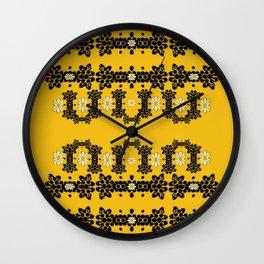 Ornate circulate is festive in  flower decorative Wall Clock
