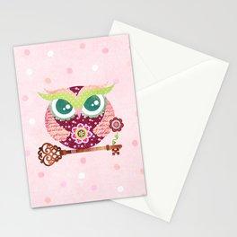 Spring Blossom Owl Stationery Cards