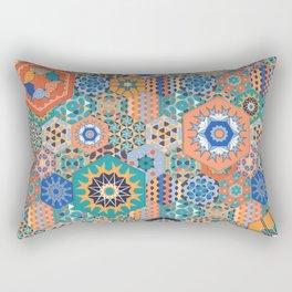 Hexagons Tiles (Colorful) Rectangular Pillow