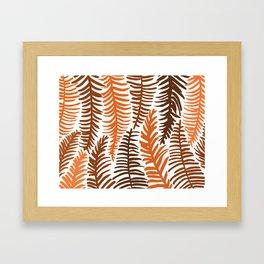 Groovy Palm Earth Framed Art Print