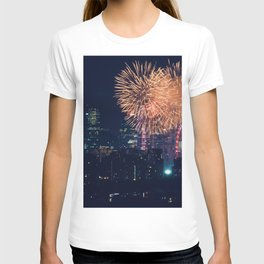 Fireworks in the City (Color) T-shirt