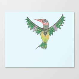 Stich & Fauna : Hummingbird Canvas Print
