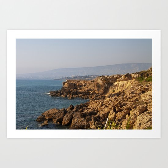 The sea coast Art Print