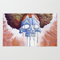 hippy Area & Throw Rugs featuring Drippy Hippy by Brian DeYoung Illustration