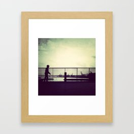 Out on my skateboard, the night is just humming Framed Art Print