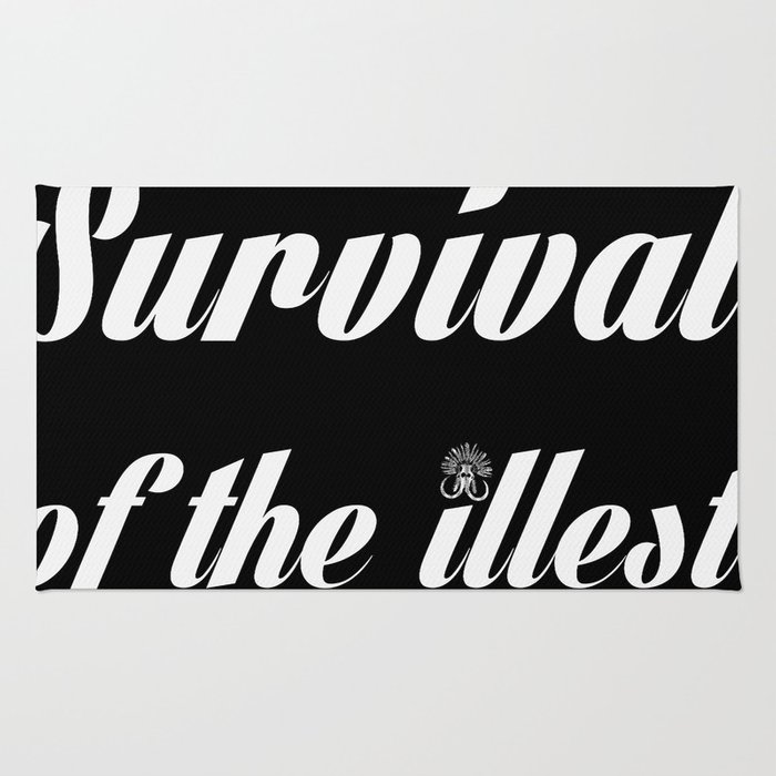 "Barbarica ""Survival of the illest"" (black) Rug"