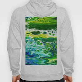 Blue waves and green grass Hoody