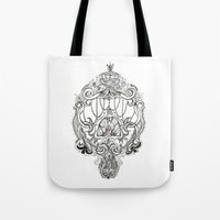 lungs Tote Bags featuring Lungs by theKROL