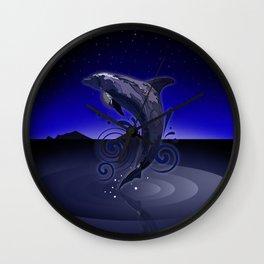 Dolphin - Night Wall Clock