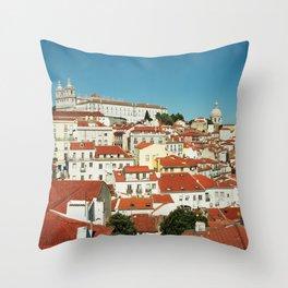Lisbon view, Portugal Analog 6x6 Kodal Ektar 100 (RR 166) Throw Pillow