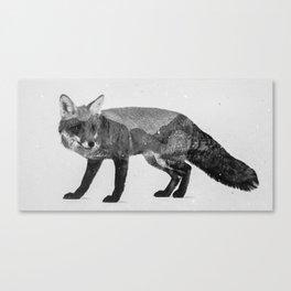 Fox (B&W) Canvas Print