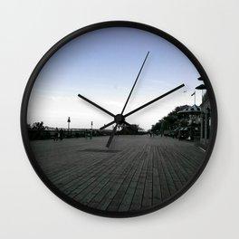The Old Quebec City Terrasse Dufferin Boardwalk at Dusk Wall Clock