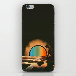 Sunset meditate iPhone Skin