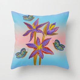 Queen of Sheba Orchids  Throw Pillow