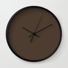 DARK CLOVE brown solid color Wall Clock