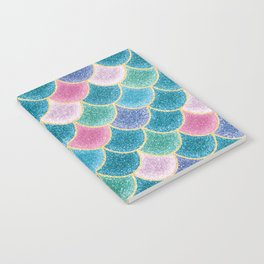Glittery Mermaid Scales Notebook