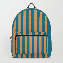 Laguna Blue and Mango Stripes Backpack