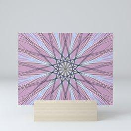 Pink Abstract Geometric Star Art - c13524.10 Mini Art Print