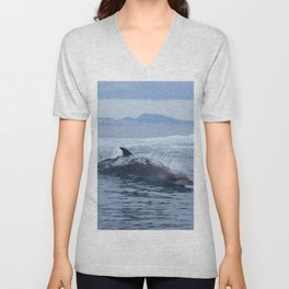 Dolphin: love for waves, love for life Unisex V-Neck