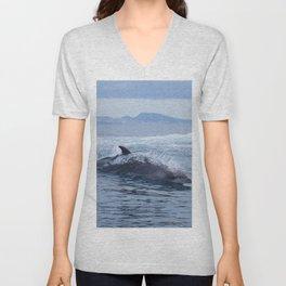 Dolphin: love for waves, love for life Unisex V-Neck