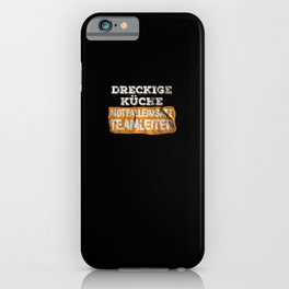 Emergency Messy Kitchen Cooking Barbecue Gift iPhone Case
