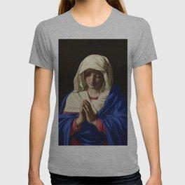 The Virgin in Prayer by Giovanni Sassoferrato (c. 1645) T-shirt