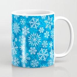 snowflakes background (winter design) Coffee Mug